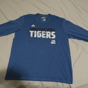 Adidas TSU Tigers Aeroknit Climacool LS Shirt Blue